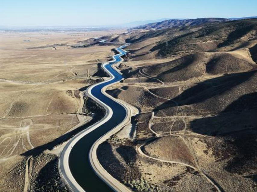 The State Water Project collects water from Northern California rivers and sends it south via an aqueduct. About 30 percent of water is used for irrigation, mostly in the San Joaquin Valley, and about 70 percent is used for residential, municipal and industrial use, mainly in Southern California yet also in the Bay Area.