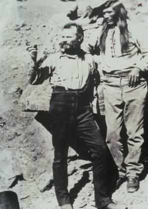 John Wesley Powell talking with a Paiute Indian.