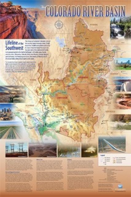Map Of Colorado River In Arizona.Colorado River Basin Map Water Education Foundation