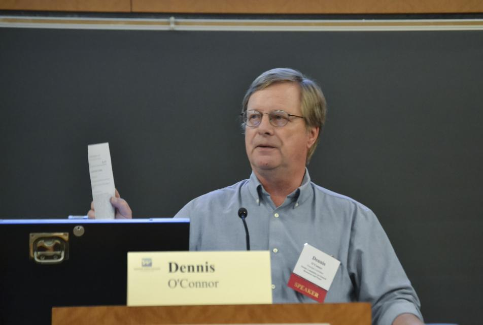 Dennis O'Connor talks at our Water 101 workshop