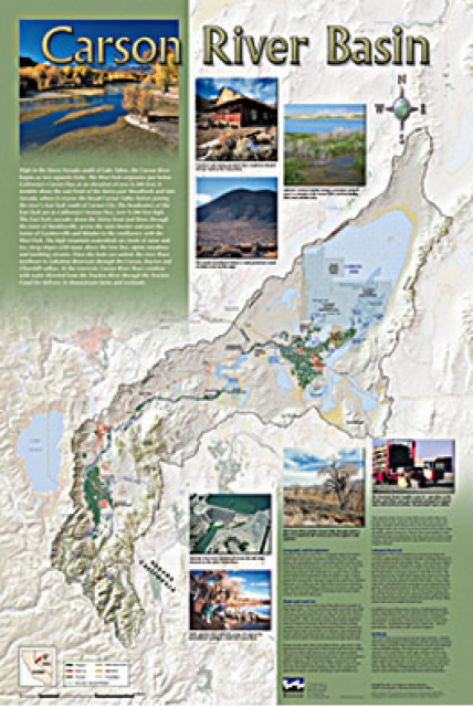 Carson River Basin Map Water Education Foundation