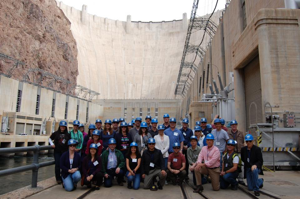 At Hoover Dam on our annual Lower Colorado River Tour