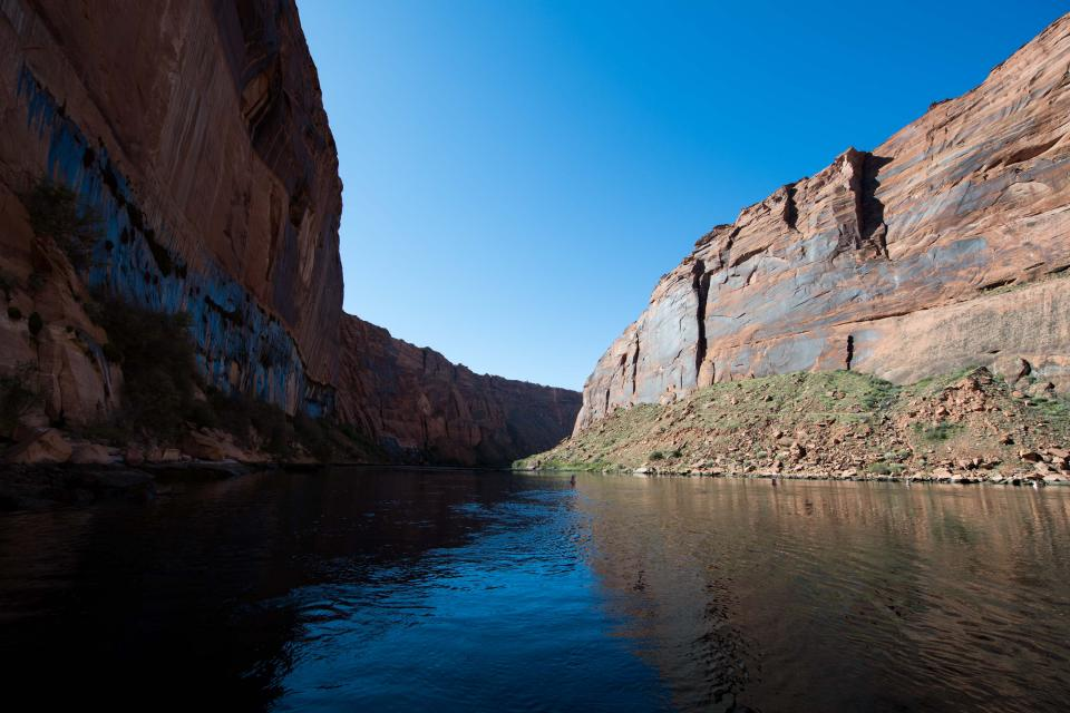 Colorado River, downstream from Glen Canyon Dam in northern Arizona.