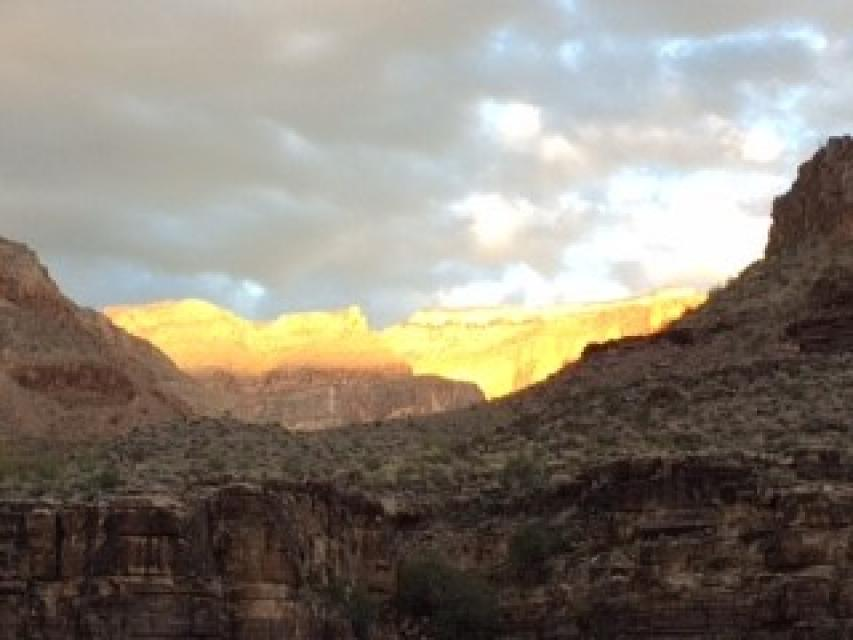 The interplay between sunlight and rock in the Grand Canyon is awe-inspiring.