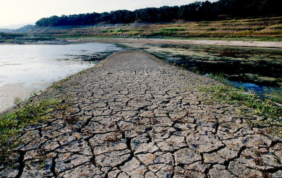 Lake Cachuma in drought