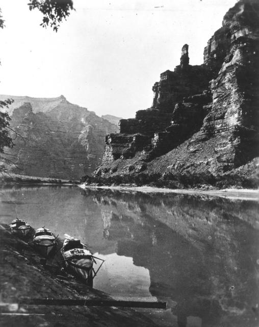 """Green River, the Canyon of Desolation,"" from John Wesley Powell's second expedition, 1871."