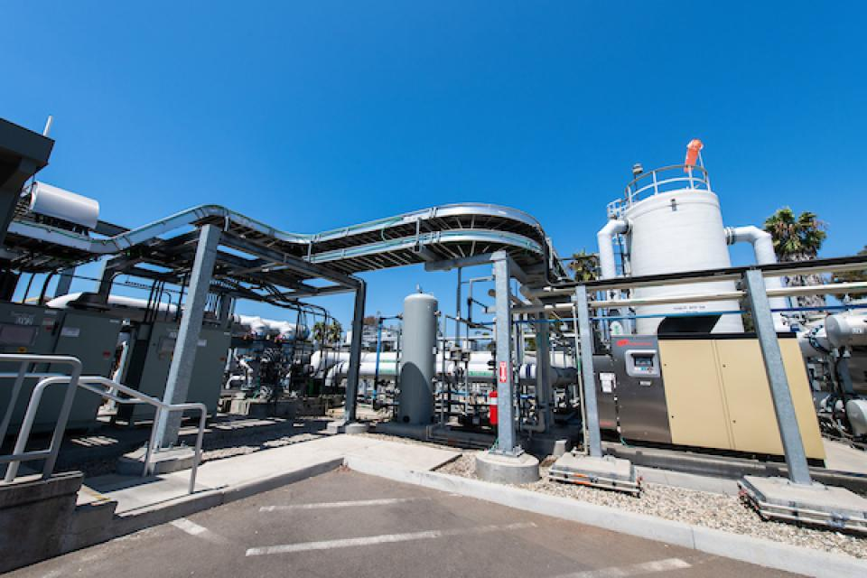 The city of Santa Barbara's Charles E. Meyer Desalination Plant produces 3 million gallons of drinkable water from seawater each day, or about 30 percent of the city's water supply.
