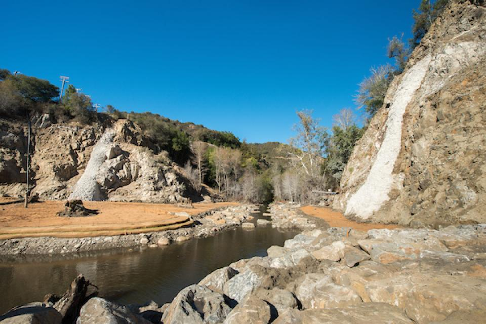 The San Clemente Dam site on the upper Carmel River.
