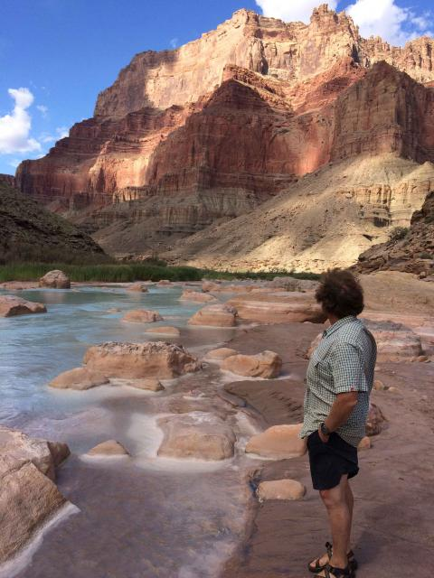 Writer Gary Pitzer at the Grand Canyon