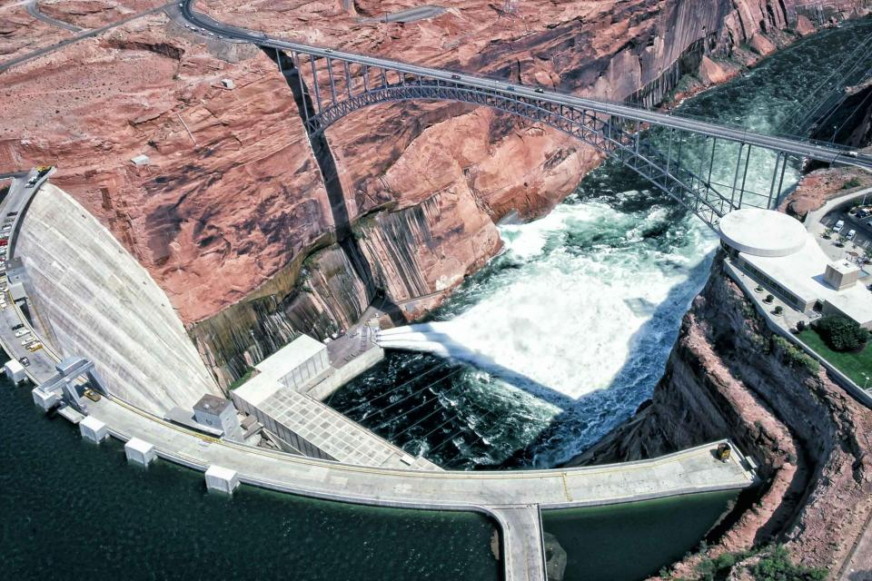 "Runoff from what some describe as an ""epic flood"" in 1983 strained the capacity of Glen Canyon Dam to convey water fast enough."