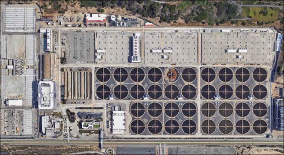 Los Angeles' Hyperion wastewater treatment facility.  Los Angeles announced Feb. 21 that the city will recycle 100 percent of its wastewater by 2035, which could boost the city's locally sourced water supply to as much as 70 percent.