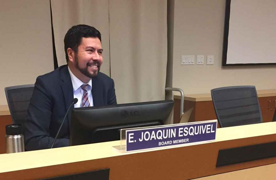 State Water Resources Control Board member Joaquin Esquivel