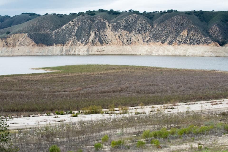 Lake Cachuma, in central Santa Barbara County, is a key reservoir for communities along the southern Central Coast of California. This 2017 file photo illustrates the impact drought can have on a key coastal reservoir.