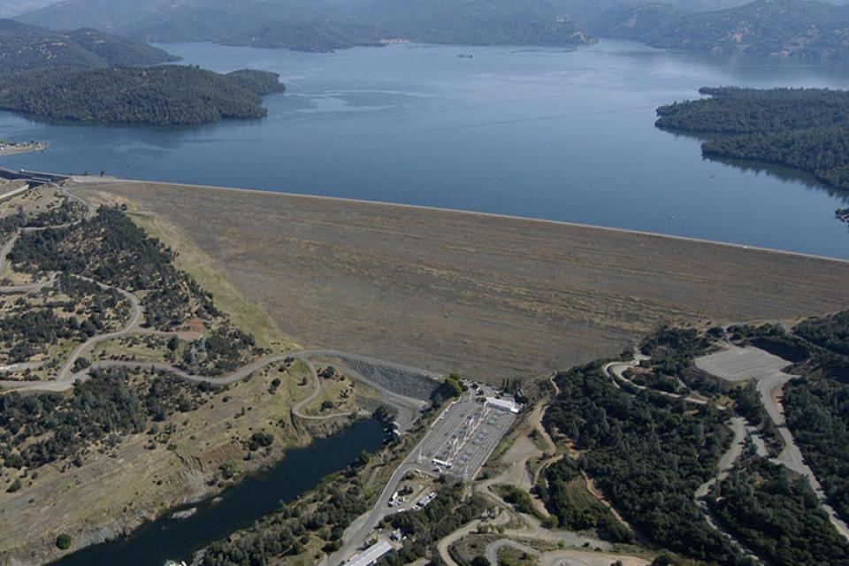 Oroville Dam, a key part of California's State Water Project.