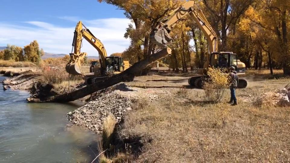 Channel and habitat improvement projects along the Upper Colorado River promote irrigation systems and soil and water quality near Kremmling, Colorado.