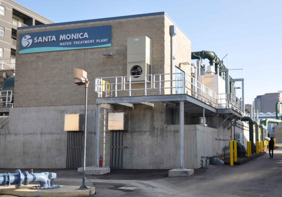 Santa Monica city water treatment facility. The city hopes an array of measures large and small -- from  stormwater capture and groundwater cleanup to residential rain barrels and tighter conservation measures  -- will help it become water independent.