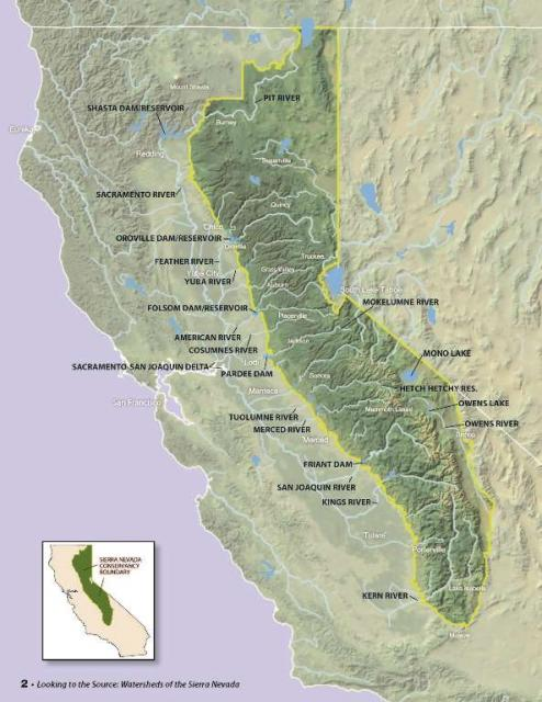 Sierra Nevada watersheds