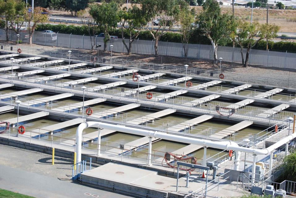 Part of a wastewater treatment plant in Contra Costa County.