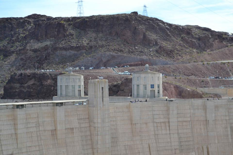 View from the top of Hoover Dam.