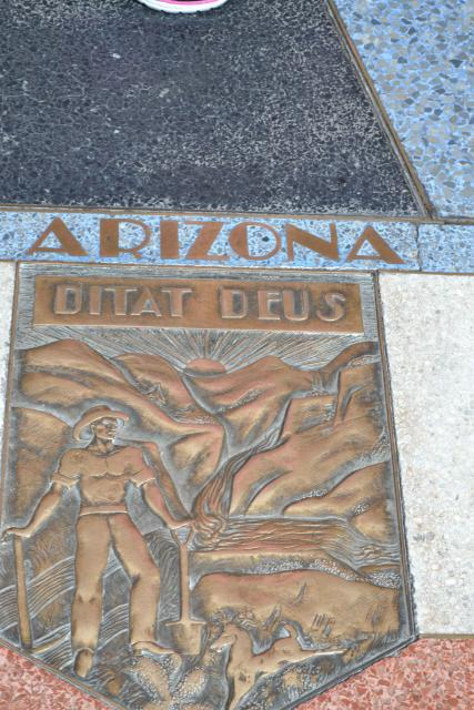 Embedded plaque for Arizona at Hoover Dam.