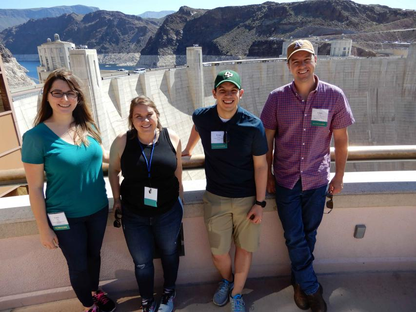 Members of our 2018 Water Leaders class stand on the observation deck for Hoover Dam while on our Lower Colorado River Tour.