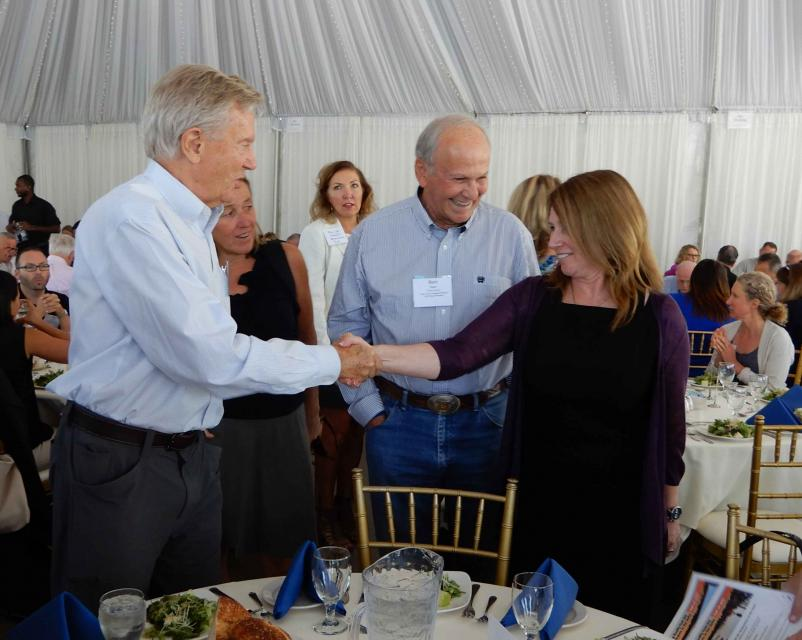 Bureau of Reclamation Commissioner Brenda Burman (right) met with former Interior Secretary Bruce Babbitt during the Water Education Foundation's Water Summit Sept. 20.