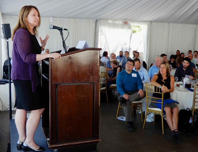Bureau of Reclamation Commissioner Brenda Burman, the first woman to hold the job, spoke at the Foundation's Sept. 20 Water Summit in Sacramento, Calif.  (Source: Water Education Foundation)