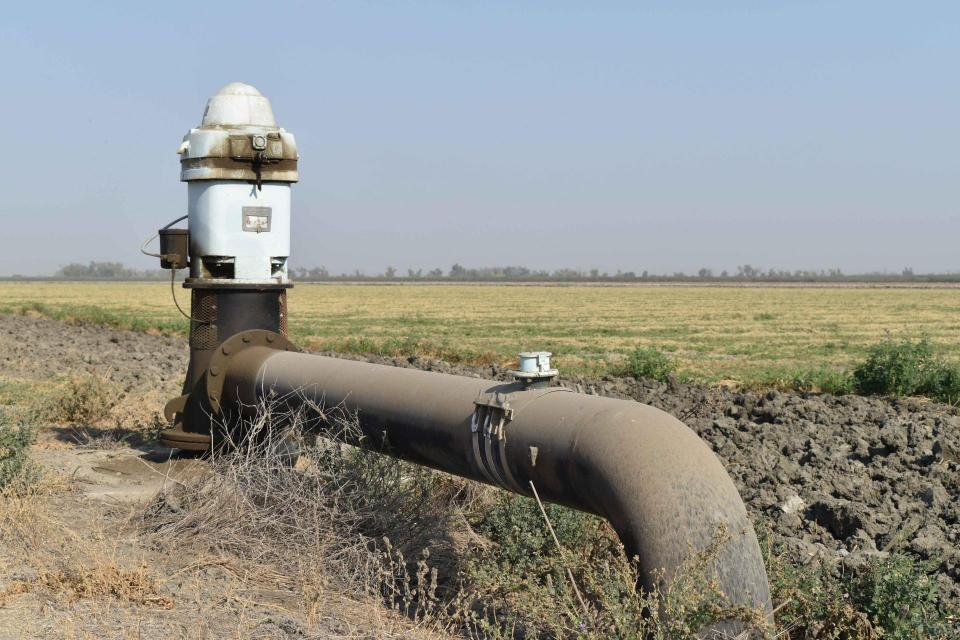 A groundwater pump in the San Joaquin Valley.