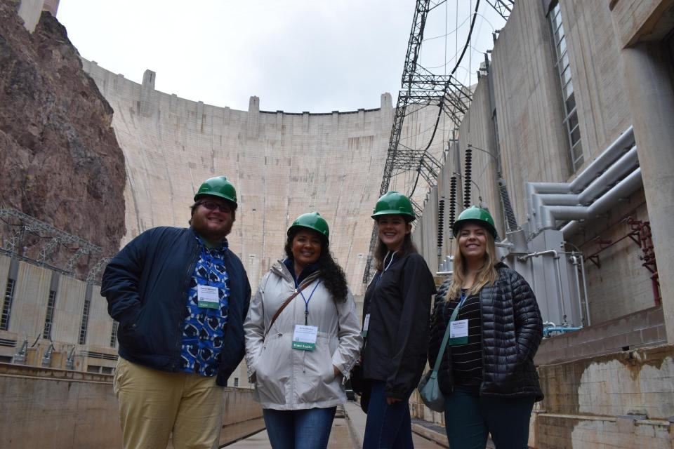 Members of our 2020 Water Leaders class at Hoover Dam on the Colorado River.