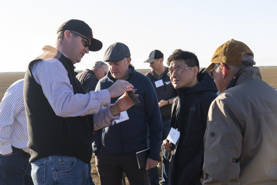 Farm demonstration during our Central Valley tour.