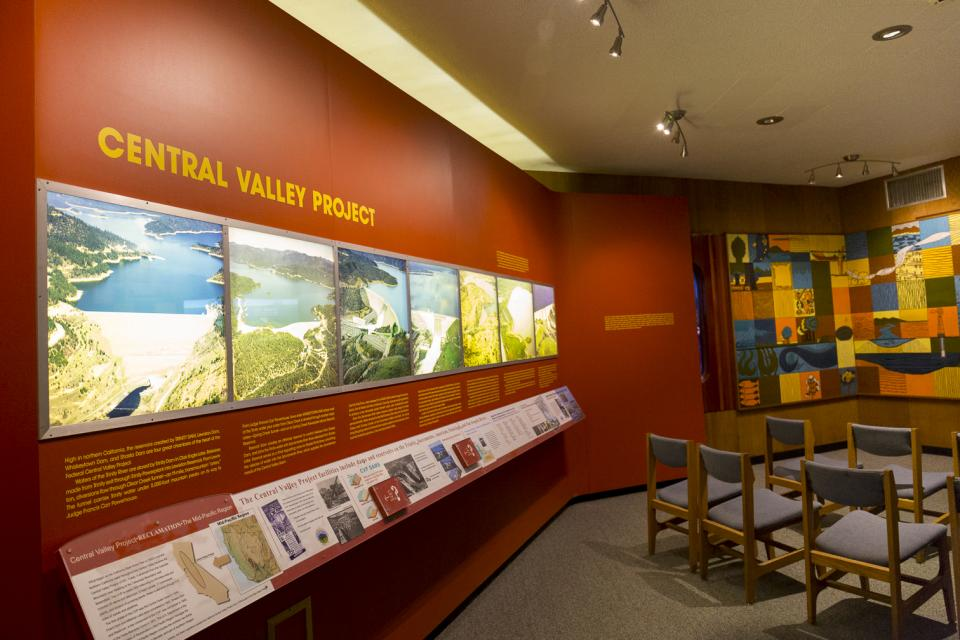 Central Valley Project informational display.