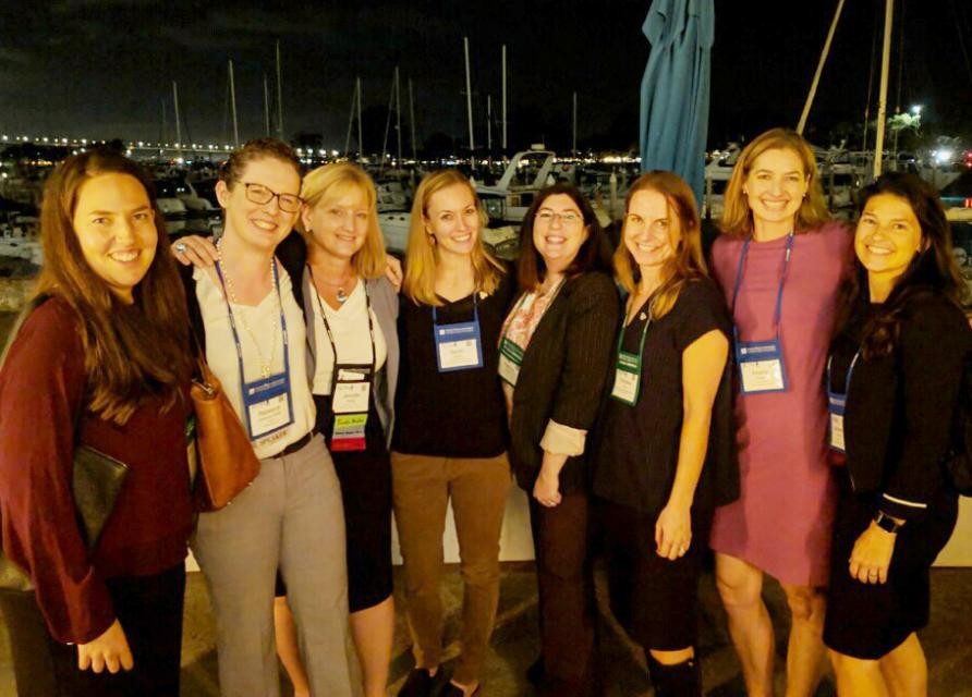 The author, Jennifer Bowles, with alums of the Foundation's Water Leaders class at the Association of California Water Agencies conference in San Diego last month