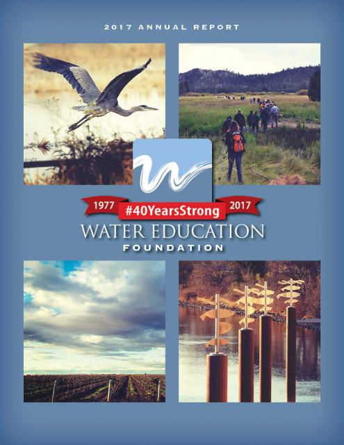 Water Education Foundation 2917 Annual Report cover