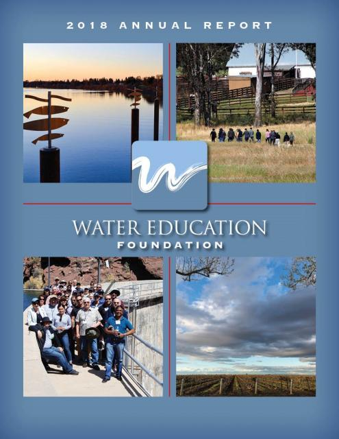 Water Education Foundation 2018 Annual Report cover