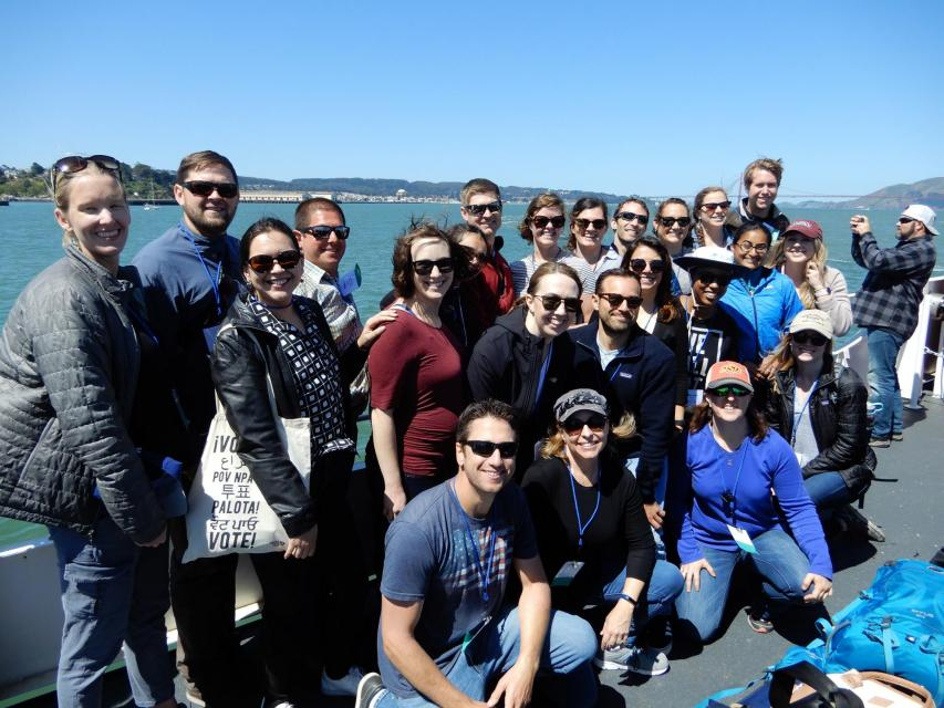 2019 Water Leaders class on ferry ride during Bay-Delta Tour.