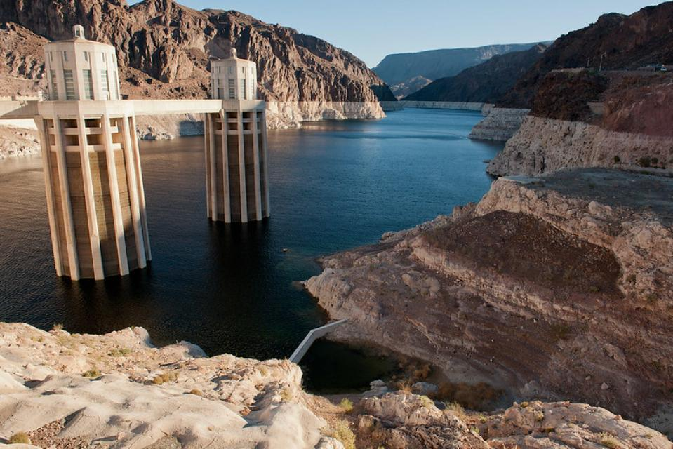 At full pool, Lake Mead is the largest reservoir in the United States by volume. but two decades of drought have dramatically dropped the water level behind Hoover Dam.
