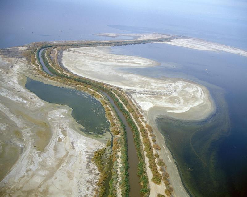 New River flowing into the Salton Sea