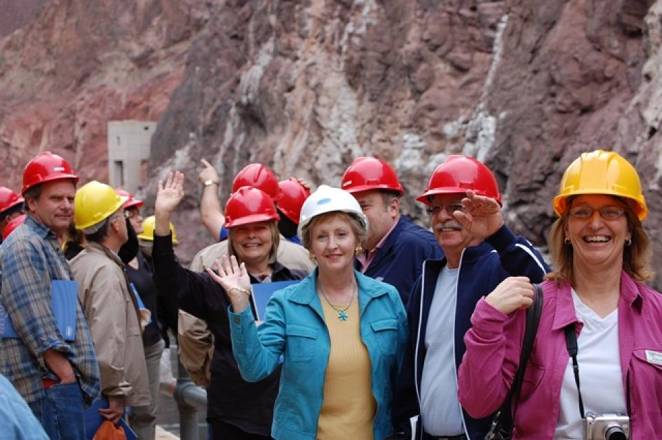 Lower Colorado River Tour participants at Hoover Dam.