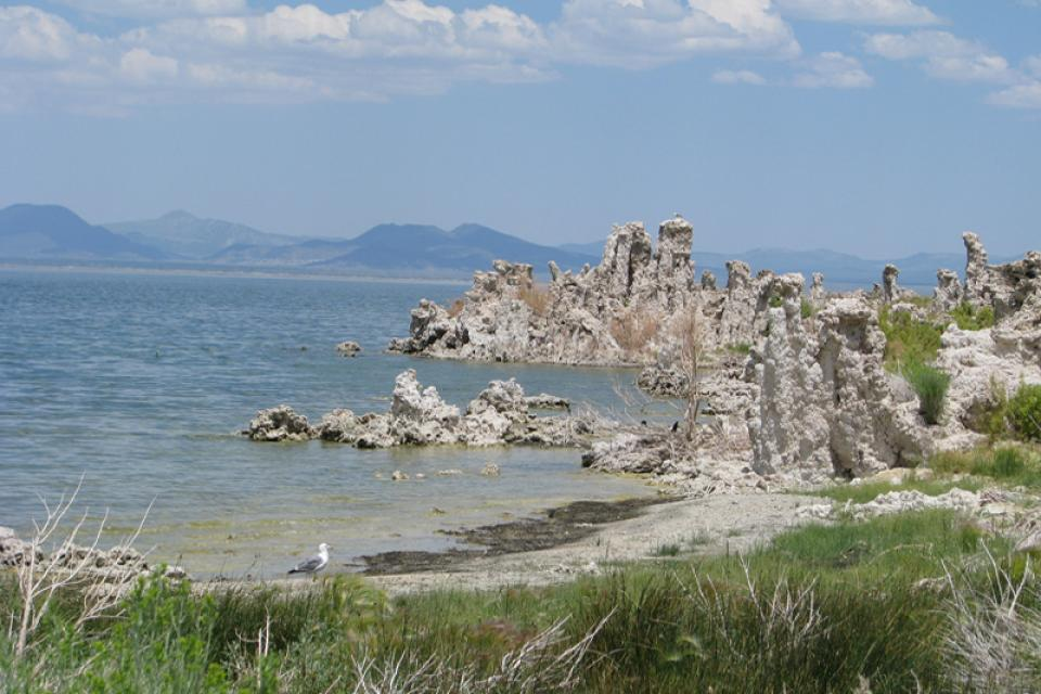 Mono Lake, on the east side of the Sierra Nevada.