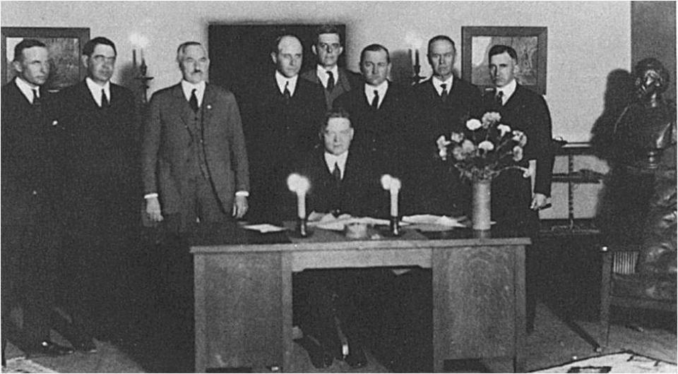 Signing of the Colorado River Compact in 1922.