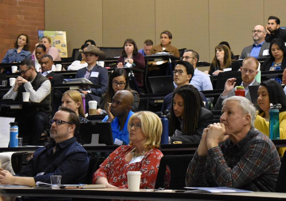 Attendees listen to a presentation at the Foundation's Water 101 Workshop